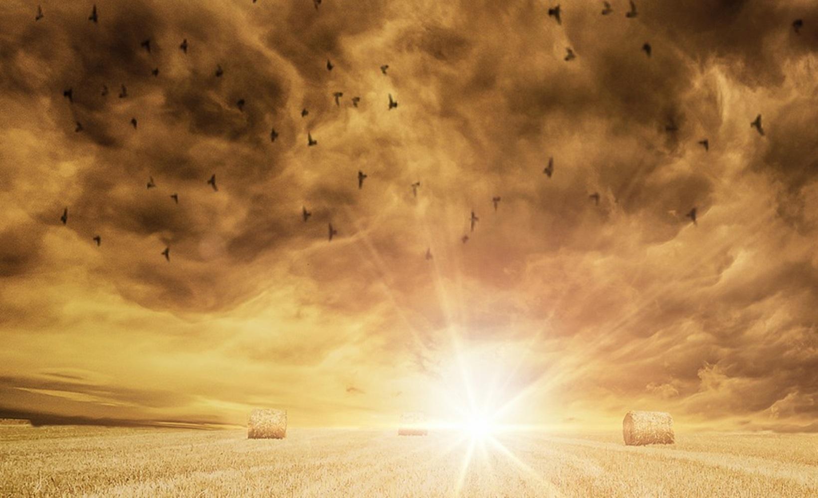 地平線 太陽