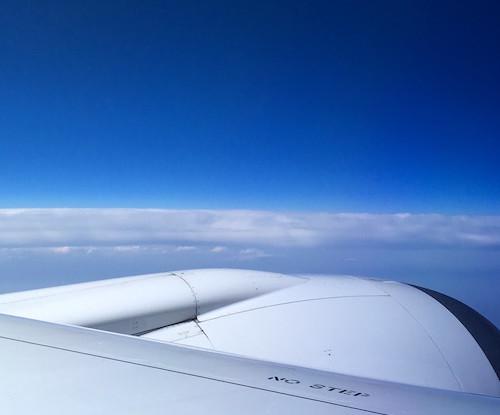 雲の上 機上