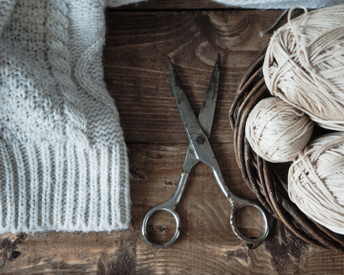 編み物 糸 ハサミ